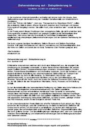 Variable Vergütung Fachartikel Zielvereinbarung out - Zieloptimierung in