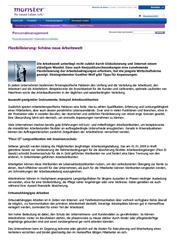Variable Vergütung Fachartikel Flexibilisierung - Schöne neue Arbeitswelt