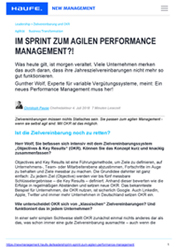 Fachartikel variable Vergütung Fachmagazin Studie Performance Management