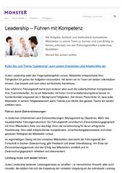 Veröffentlichung Leadership - Führen mit Kompetenz